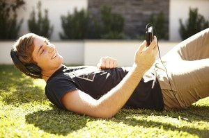 guy lying on grass